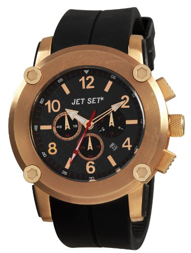 Jet Set J2873r-267Beirut–Watch Men–Quartz–Chronograph–Black Dial–Black Rubber Strap
