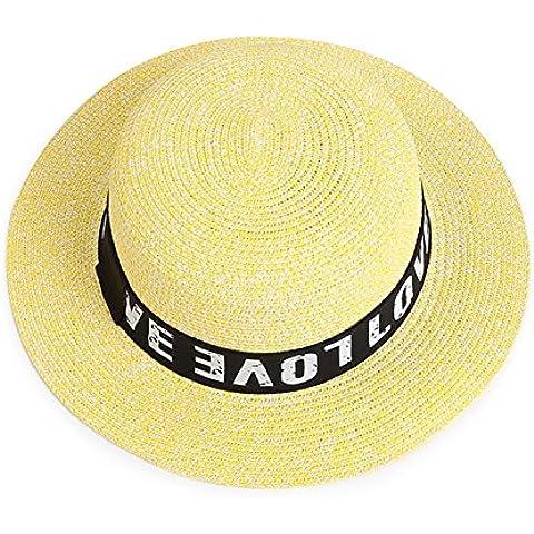 Sombreros mujer/versión coreana del verano del sombrero de paja plegable/ Un sombrero de ala ancha/Dulces vacaciones de gorra/Sombreros de Inglaterra