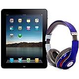 Pack iPad 4 16Go Wifi 3G Noir avec casque Bluetooth Bleu