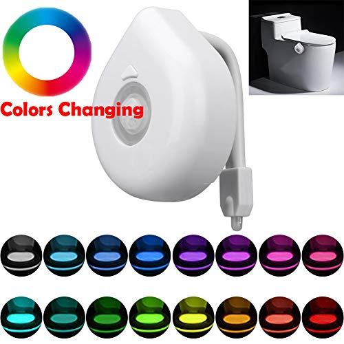 TAOtTAO WC Licht Körper der automatische LED-Bewegungs-Sensor-Nachtlicht-Toilettenschüssel Badezimmer-Licht erfaßt (B) -