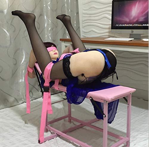 Luxus Spreizstange Bondage, Bondageset Extrem, Sex Möbel/Board/Stuhl Set Inkl. Handfesseln Fußfesseln für Großartige Sex Stellungen, Folter Erotik BDSM Fetisch Restraints Sex-Spielzeug für Paare,Pink
