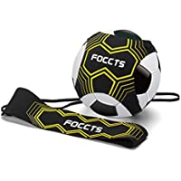 FOCCTS Star Kick Trainer Banda Elástica para Entrenamiento de Fútbol Agustable Football Kick Trainer Neopreno Cintura Cinturón para Niño Negro