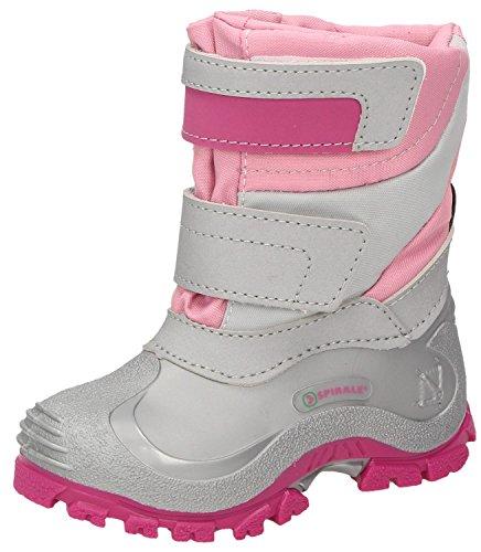 Spirale Simone Mädchen Winterstiefel, Schneestiefel für Kleinkinder, Kinder Klettstiefel, Canadian Boot, mit Doppel-Klettverschluss, warm gefüttert, wasserabweisend Pink (rosa (792)), EU 26