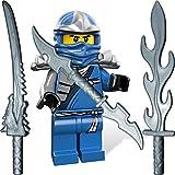 LEGO Ninjago: Minifigur Jay ZX (blauer Ninja) mit LEGO Katana und 3 GALAXYARMS Schwertern