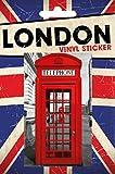 Londres - Phonebox Vinilo Decorativo Pegatina Autoadhesivo (15 x 10cm)