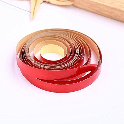 FUGL Safe Reflektierende 1cmx3M Reflektierende Auto Body Stripe Aufkleber Safe Reflektierende (Diy Body Glow Paint)