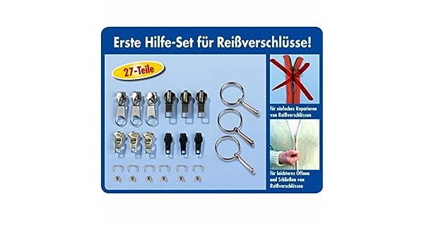 Greifringe Zipper Schieber Metall 81-teilig Reißverschluss-Reparatur Set inkl