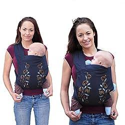 Front und Rückseite Komfort Sicherheits Babytrage (Glyzinien)