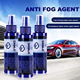 Agente anti-appannamento, Anti-appannamento parabrezza per auto Agente anti-appannamento a lunga durata Rivestimento laterale per auto antiappannamento Specchietto retrovisore per auto Antipioggia,3pz