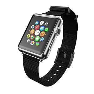 Incipio style bracelet nato en nylon qualité supérieure pour tous les modèles de 42 mm pour watch watch/apple iPhone/apple noir watch-montre sport edition