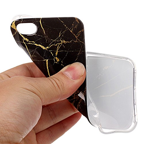 Pheant® Apple iPhone 5/5S/SE Coque Gel Étui Souple Housse de Protection Bord Transparent Cas étui en TPU Silicone Motif de Marbre Couleur-03