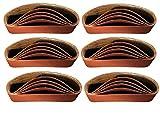 30 Gewebe-Schleifbänder 75 x 533 mm Körnung je 6 x 40/60/80/120/180 für Bandschleifer Schleifband für Handelsübliche Bandschleifgeräte
