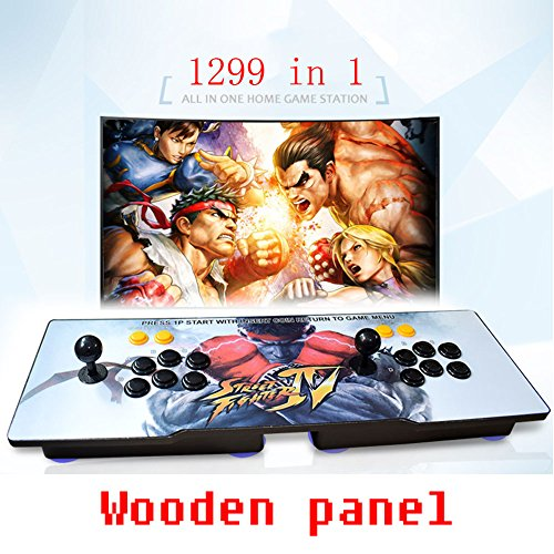 DFS Pandora's Box 5S Arcade Game Console 1299 in 1 TV Video Games Kit with 2 Joystick Button Power Supply Parts HDMI and VGA and USB Output Se pueden seleccionar tres patrones (Street Fighter)
