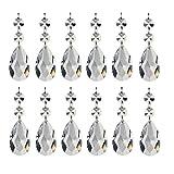 15 Stück Teardrop Kristall Schmuck Anhänger Glas Glasperle Kronleuchter Kristall für Hochzeit House Office Dekoration