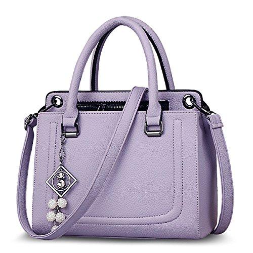WU Zhi Onorevoli PU Sacchetto Di Spalla Portatile Purple