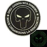 2AFTER1 Punisher Dieu JUGERA NOS Ennemis Glow Dark All Black Navy Seals DEVGRU PVC Fastener Patch