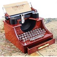 ParZ Caja de música de la máquina de Escribir de la Vendimia Cajas Musicales Antiguas plásticas