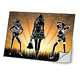 Diva 10353 Skin Sticker Schutzfolie Vinyl mit Ledereffekt Laminat und Buntem Design für Laptop 17 Zoll (43,2 cm)