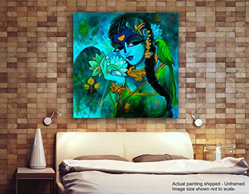 Tamatina Canvas Painting - Modern Art Paintings - Religious Canvas Art  available at amazon for Rs.348