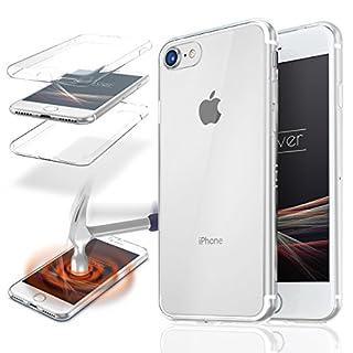 Urcover® Apple iPhone 7 4,7 Zoll | 360 Grad Hülle | TPU in Klar | Zuberhör Tasche Case Handy-Cover Rundum ultra dünn Schutz-Hülle slim Schale