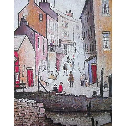 La collezione di Lowry L S Speciality stampe quadri, tutto in una struttura in lino, (Border Scena)