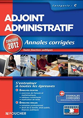 Adjoint Administratif - Annales corrigé...