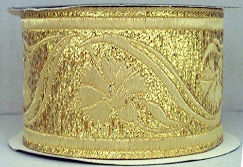 Lurex de oro de 1/a de mercanc/ías 35070/corta de Go 10/M brocado Borte webband 35/mm de ancho color