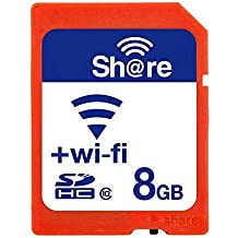GuDoQi Wireless Wifi SD Tarjeta 8GB SHDC Clase 10 Tarjeta De Memoria Flash Para Canon Nikon Casio Cámara Digital Slr