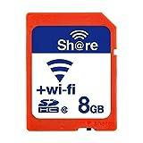 GuDoQi Carte SD WiFi Sans Fil Carte Mémoire Flash 8 Go SDHC Classe 10 Pour Appareil Photo Reflex Numérique Canon Nikon Casio