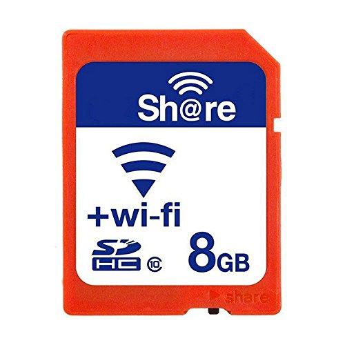 GuDoQi Drahtlose WiFi SD Karte 8GB SDHC Klasse 10 Flash Speicherkarte für Canon Nikon Casio digitale SLR Kamera (Wifi-sdhc-speicherkarte)