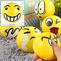24pcs Pelota Anti Estrés | Bolas Divertidas De Emoji Squeeze | Pequeños Juguetes Fidget | Piñata Rellenos Bolsos Para Fiestas, Cumpleaños Niños Juegos | Halloween Fiesta Regalos para Niño de The Twiddlers