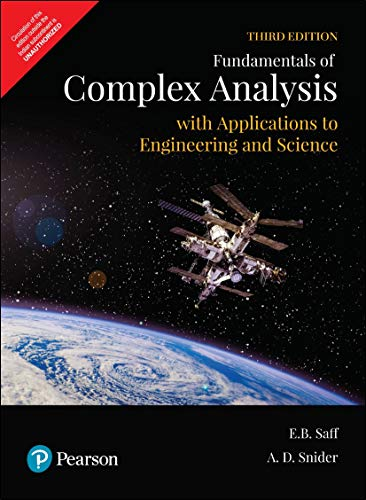 Fundamentals of Complex Analysis | Applications to Engineering and Science | Third Edition | By Pearson