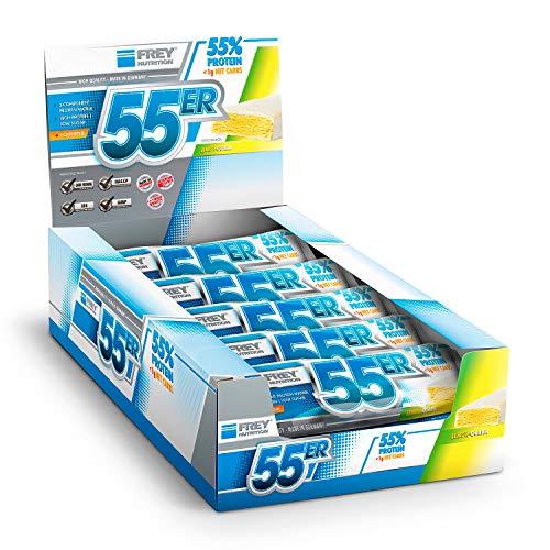 FREY Nutrition 55er Proteinriegel, 20 Riegel (20 x 50 g) (Lemon-Quark)