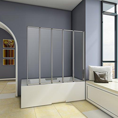 1200x1400mm-chrome-5-fold-folding-shower-bath-screen-glass-panel