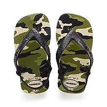 Havaianas Unisex Babies' Chic II Sandals, BEIGE/BLACK, 5 UK Child 23 EU