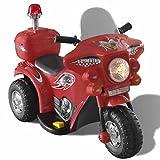 vidaXL Motocyclette Enfant à Batterie Rouge Mini Moto Electrique Véhicule