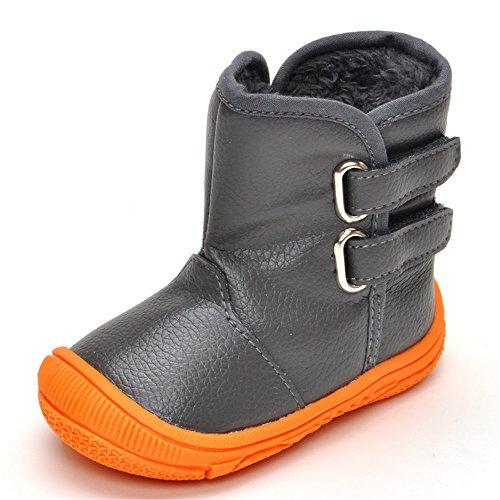 Matt Keely Baby Jungen Mädchen Schneestiefel Kleinkind Winter warme Schuhe Grau 20 EU