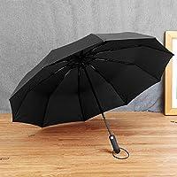 MMFHG umbrella Big Fully-Automatic Windproof Man Umbrella Gentle Men Folding Rain Umbrella Women 10K Parasol Black Coating