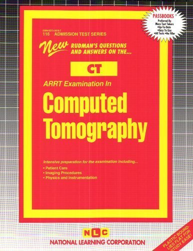 ARRT Examination in Computed Tomography (CT) (Admission Test Series) by Passbooks (2008) Plastic Comb