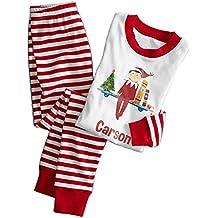 FastDirect Conjunto Pijamas Navidad Familia con Dos Piezas Top Manga Larga Pantalones Ropa de Dormir