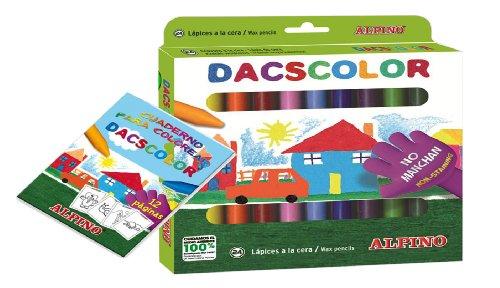 Masats  - Estuche 24 Ceras dacscolor+ Cuaderno