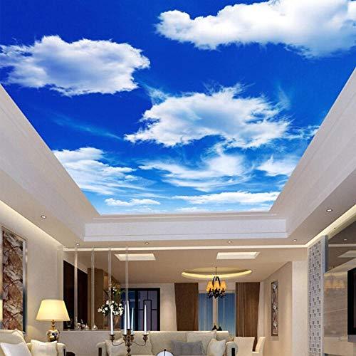 Fototapete 3D Effekt Individuelle Fototapete Blauer Himmel Und Weiße Wolken Deckenbild Tapeten Für Wohnzimmer Schlafzimmer Decke Hintergrund Dekor Wand 200X140 Cm