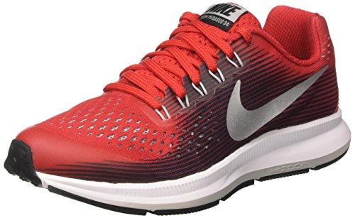 Nike Zoom Pegasus 34 GS, Zapatillas de Running para Niñas, Rojo (University Black/Tough Red/White), 37.5 EU
