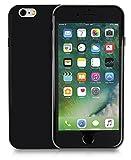 MyGadget Full Body Hülle für Apple iPhone 6/6s mit 360° Schutz Vorder & Rückseite - 2 Schalen Ganzkörper Case Hardcover mit TPU Bumper Stoßfest - Schwarz