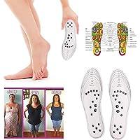 Acupressure Minceur Semelles, Perte De Poids Massage Pieds Semelles Gel Semelle De Massage Magnétique Semelles Foot Care Coussin Massage Semelles pour Femmes Hommes