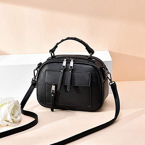 Fyyzg einzelne Schulter Diagonale kleine Tasche frische Mode Handtasche kleine quadratische Tasche - Quaste schwarz