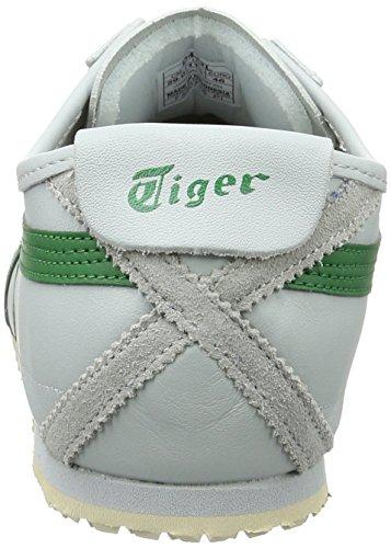 Onitsuka Tiger Mexico 66, Scarpe da Ginnastica Unisex – Adulto Grigio (Light Grey/Green)