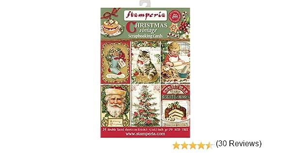 Stamperia Paper Pad Christmas Vintage 11x16cm