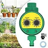 Jeteven Temporizzatori per Irrigatori,Timer Irrigazione Automatica Controllo Irrigatore Giardino Programmatore per impianto Giardino a Goccia Acqua Verde
