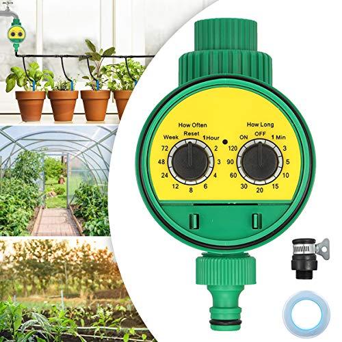 Jeveten Kit de riego riego Gota a Gota Programador de riego Sistema de riego automático de riego temporizado en jardín y huerto (Verde)